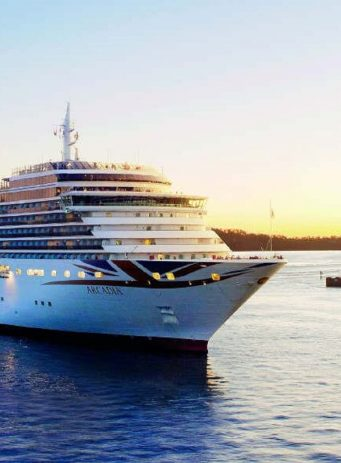 P&O Cruises SEO case study header image showing a cruise ship