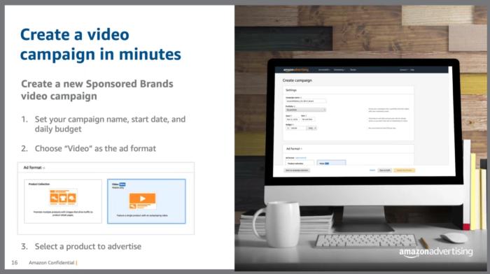 Amazon's tool to create sponsored brand video ads