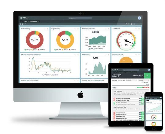 Apollo Insights dashboard on screens