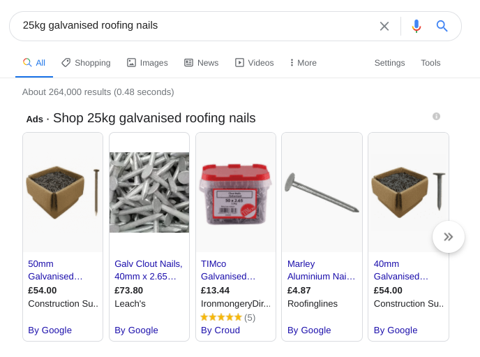 search results for nails