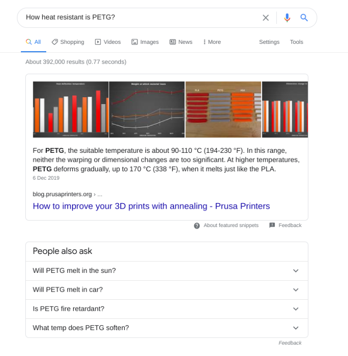 Search results for PETG