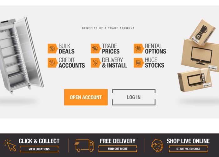 B2B eCommerce website Hughes Trade benefits