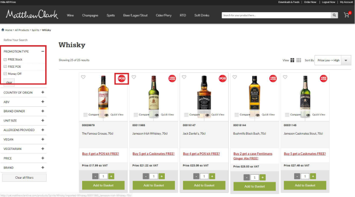 Matthew Clark B2B eCommerce promotions