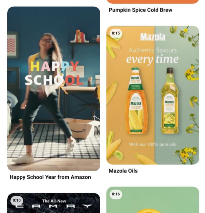Pinterest standard width video ads